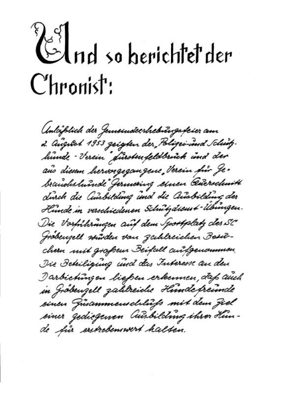 Chronik - Seite 1